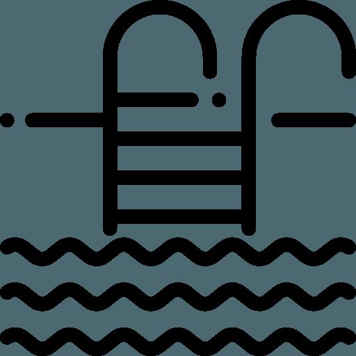 Piscina adulto com raia de natação de 25m